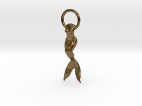 Mermaid Earring/Pendant in Polished Bronze