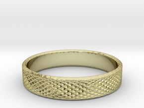0221 Lissajous Figure Ring (Size12,5, 21.7 mm)#026 in 18k Gold Plated Brass