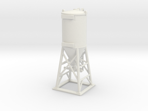 Cement Mixer 01.HO Scale (1:87) in White Strong & Flexible
