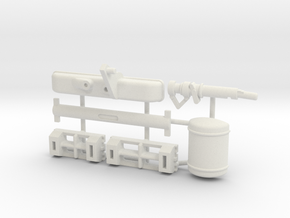 Scope Model Pieces in White Natural Versatile Plastic