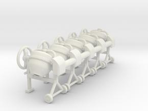 Cement mixer 02 .Scale HO (1:87) in White Natural Versatile Plastic