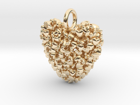 365 Hearts Pendant - Medium  in 14K Yellow Gold