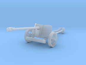 1/200 scale Pak40 german anti tank gun WW2 in Smooth Fine Detail Plastic