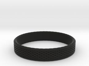 0227 Lissajous Figure Ring (Size15.5, 24.2 mm)#032 in Black Natural Versatile Plastic