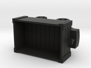 32mm gauge Wagon Body in Black Natural Versatile Plastic