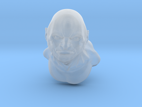 Barbarian bust in Smooth Fine Detail Plastic