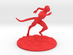 Female Creature in Red Processed Versatile Plastic