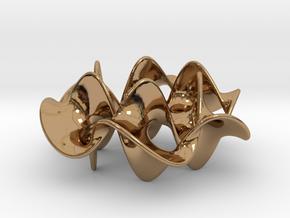 Hexagram 2 (2 in) in Polished Brass