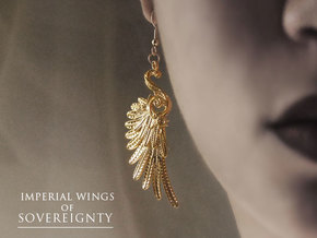 Imperial Wings of Sovereignty Earrings in 18k Gold Plated