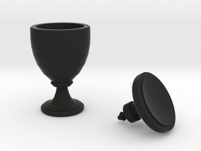15th Century Oil Vase (5 inches tall) in Black Natural Versatile Plastic