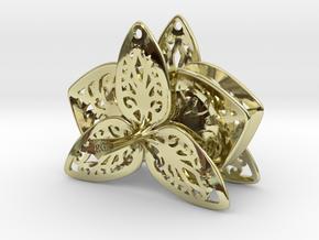 Orchid Filigree Earrings in 18k Gold