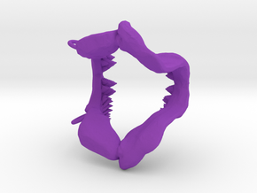 Great White Shark Jaw With Loop in Purple Processed Versatile Plastic