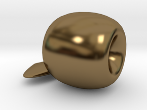 Apple Ornament in Polished Bronze