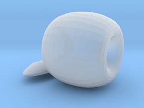 Apple Ornament in Smooth Fine Detail Plastic