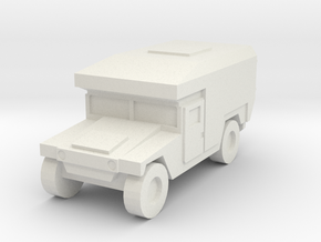 1/160 US Army M997 Ambulance Humvee HMMWV in White Natural Versatile Plastic