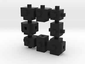 Buildblocks Variant 2v2 in Black Natural Versatile Plastic