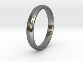 Ring Size 6 1I2 smooth in Polished Silver