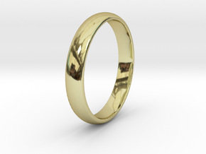 Ring Size 7  smooth in 18k Gold