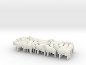 1:64 Scale J Wagon Sheep Load Variation 1 in White Natural Versatile Plastic