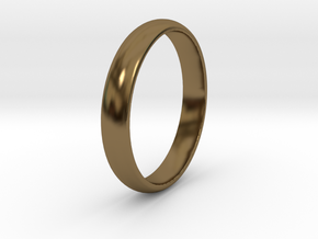 Ring Size 8 1I2 smooth in Polished Bronze