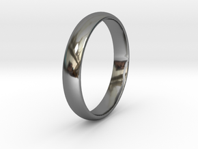 Ring Size 9 1I2 smooth in Fine Detail Polished Silver