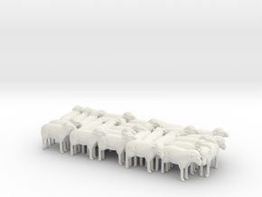 1:64 Scale J Wagon Sheep Load Variation 4 in White Natural Versatile Plastic