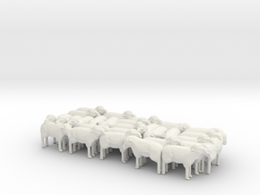 1:64 Scale J Wagon Sheep Load Variation 3 in White Natural Versatile Plastic
