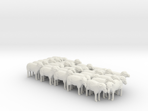 1:64 Scale J Wagon Sheep Load Variation 5 in White Strong & Flexible