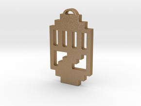 "Journey Pendant- ""Raised Fist"" Symbol in Matte Gold Steel"