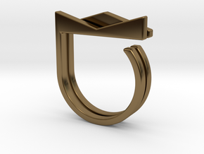 Adjustable ring. Basic set 2. in Polished Bronze