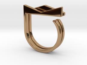 Adjustable ring. Basic set 2. in Polished Brass