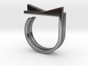 Adjustable ring. Basic set 4. in Fine Detail Polished Silver