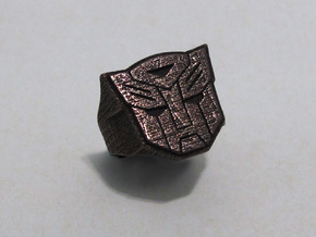 [Transformer] Autobot-ring Size #6 in Polished Bronzed Silver Steel
