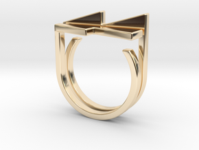 Adjustable ring. Basic set 7. in 14K Yellow Gold