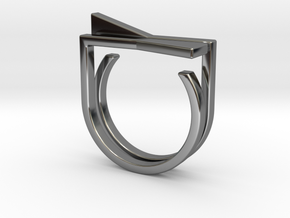 Adjustable ring. Basic set 8. in Fine Detail Polished Silver