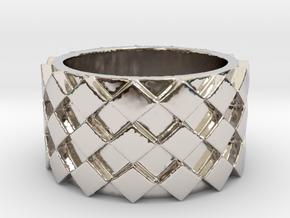 Futuristic Diamond Ring Size 4 in Platinum