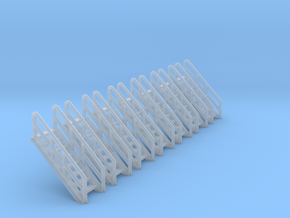 N Scale Stairs 8 (7 pc) in Frosted Ultra Detail