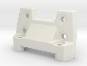 Yokomo Bmax4 III bulkhead brace in White Natural Versatile Plastic
