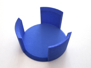Half Tricky Box in Blue Processed Versatile Plastic