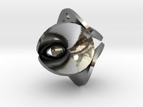 Enneper Earring / Pendant in Fine Detail Polished Silver