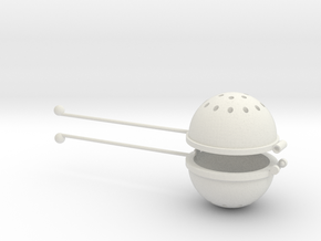 Hot Tea Infuser/Strainer in White Natural Versatile Plastic