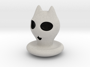 Halloween Character Hollowed Figurine: KittyGhosty in Full Color Sandstone