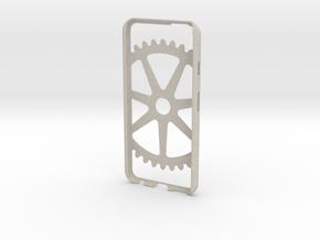 Iphone 6 Case- Cog pattern in Natural Sandstone