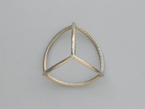 TriWire 70mm in Polished Bronzed Silver Steel