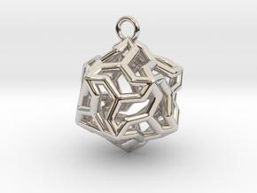 Platonic-5 in Rhodium Plated Brass