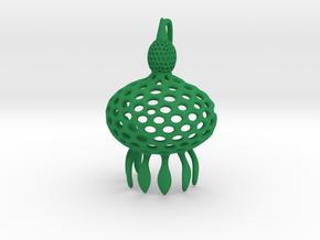 Anthocyrtium Radiolarian Pendant in Green Processed Versatile Plastic