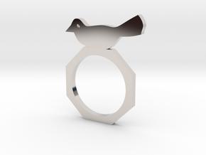 Sweet Bird Ring in Platinum
