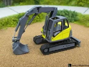 Lenni-14tTrackedExcavator in Smooth Fine Detail Plastic