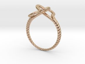 Locked Love Ring in 14k Rose Gold Plated Brass