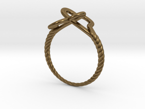 Locked Love Ring in Natural Bronze